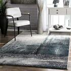 nuLOOM Contemporary Modern Abstract Area Rug in Grey, Blue, White