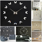 DIY Analog 3D Number Wall Clock Sticker Mirror Surface Decal Modern Home Decor