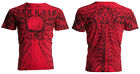 ARCHAIC by AFFLICTION Men T-Shirt COLLISION Wings Skull Motorcycle Biker UFC $40 image