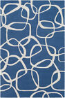 blue and gray rug - Amarion AAI-1000 Blue and Gray Modern Rug