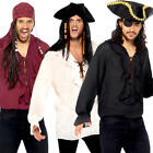 Pirate Shirt Mens Fancy Dress World Book Day Buccaneer Adults Costume Tops New