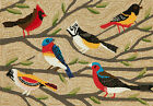 """AREA RUGS - """"BIRDS OF A FEATHER"""" INDOOR OUTDOOR RUG - 30"""" x 48"""" OR 42"""" x 66"""""""