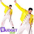 Freddy Mercury Mens Fancy Dress Superstar Celebrity Icon Adults Costume Outfit