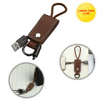 Portable Micro USB Leather Data Cable With Key Chain