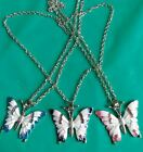 Color big Butterfly long chian Necklace Fashion Women the Best Party Jewelry