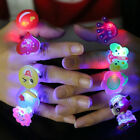 10/50Pcs LED Light Up Flashing Finger Rings Party Favors Glow Kids Children Toy