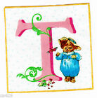 """3.5"""" Beatrix potter t cat square nursery wall safe fabric decal cut character"""