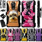 For Motorola Moto E5 Plus Play Cruise Supra Holster Phone Case Cover LuxGuard D4
