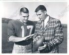 1963 Boston Patriot Babe Parilli & Air Force Terry Isaacson Press Photo