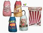VINTAGE STYLE APRON BBQ KITCHEN DAD GRILL BEER FATHERS DAY GIFT QUALITY NEW