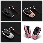 Key Cover For Mercedes Benz E Class Key Fob Aluminum Metal Genuine Leather Case