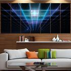 wall protection panels - Designart 'Blue Laser Protective Grids' Abstract Wall Art on Canvas