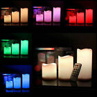 "30Pcs LED Flameless Candles 4"" 5"" 6"" Pillar 12 Color Changing w/ Remote Glow USA"