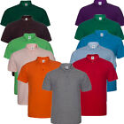 Men's Cotton Blend 2-Button Pique Sport Polo Golf Shirt Casual T-shirt