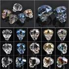 Wholesale 14X13mm Skull Head Faceted Crystal Glass Loose Spacer Beads DIY