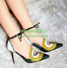 Womens Pointy Toe Hollow Out Unique Fashion High Heels Stiletto Sexy Punps Shoes
