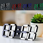LED Clock Digital Large Big Jumbo Snooze Wall Room Desk Calendar Alarm Display B