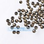 NEW 100~500pcs 3mm Round Bronze Charms Loose Spacer Metal Beads Jewelry Findings