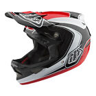 2018 Troy Lee Designs TLD D3 Carbon Fiber Mirage Helmet Red Mountain Bike