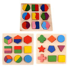 Kids Baby Wooden Learning Geometry Educational Toys Puzzle Montessori SB2014