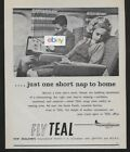 TEAL AIR NEW ZEALAND 1964 JUST ONE SHORT NAP TO HOME ON THE ELECTRA AD