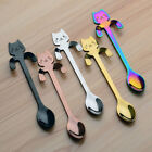 Stainless Steel Cats Coffee Drink Mix Spoon Tableware Kitchen Teaspoon Hanging