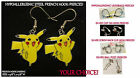 Pikachu Earrings *OPTIONS* Hypoallergenic Pierced OR Clip On Earrings