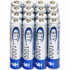 4-20X BTY AAA Rechargeable Battery Recharge Batteries 1.2V 1000mAh Ni-MH US
