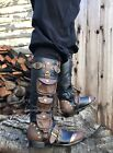 Black Steampunk Burner Firefly Malcom Reynolds Mens Space Pirate Costume Boots