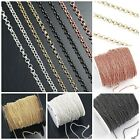 Внешний вид - 2mm Rolo chain Rose Gold Silver gunmetal Brass Plated Sold by FT necklace