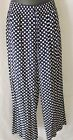 CROWN & IVY ~ WOMANS BLUE  & WHITE POLKA DOT LOUNGE PANTS ~ SIZE SMALL NEW