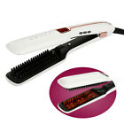 Portable Hairbrush Electric Ionic Comb Spray Steam Infrared Hair Straightener