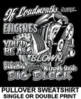 YOU'RE A LOUDMOUTH LIKE AN ALCOHOL NITROUS BLOWN BIG BLOCK ENGINE SWEATSHIRT T17