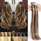 skin weft hair extensions - US Ship 150g Seamless Tape In Skin Weft 100% Real Remy Human Hair Extension I920