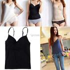 Women Basic Padded Modal Casual Cami Top Fitness Lounge Wear DZ88