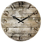 38cm Large Vintage Wooden Wall Clock Shabby Chic Rustic Home Decor Antique Style