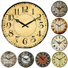 antique style clocks - 38cm Large Vintage Wooden Wall Clock Shabby Chic Rustic Home Decor Antique Style