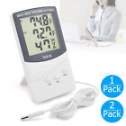 LCD Indoor Outdoor Digital Thermometer Hygrometer Temperature Humidity Display