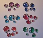 5 Jewel Glitter Bug Family Refrigerator Magnets Glass Cabochon Decor 6 Sets
