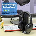5 In 1 Wireless Stereo Headphone Earphone Headset for MP3 PC TV FM iPod PC