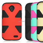 For ZTE Stratos Allstar LTE Dynamic Tuff Impact Shockproof Hybrid Armor Case