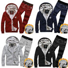 Winter Men Fashion Tracksuits 2PCs Thick Hooded Hoodies Sweatshirt Jackets Set