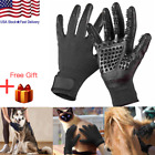 US Pet Grooming Gloves Dog Cat Cleaning Brush Hair Bath Gloves Shower Bath Tool