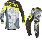 Fly Racing 2017 Kinetic Crux MX Jersey & Pants Black Grey Hi-Viz Kit GhostBikes
