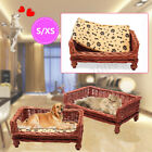 Sunmer Cool Hand Woven Wicker Pet Bed Cat Dog Basket Washable Cushion Mat