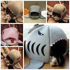 Hot Shark Mouth Pet Dog Cat Puppy Warm House Soft Bed Kennel Cozy Nest Cushion
