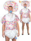 Adults Big Baby Costume Mens Comedy Funny Stag Do Party Fancy Dress Outfit