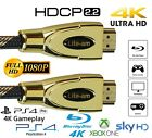 PREMIUM HDMI Cable v2.0 High Speed 4K UltraHD 2160p 1080p 3D Lead 1M - 20M