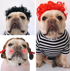 US Pet Hair Wig Dog Cat Funny Curl/Braid Costume Puppy Birthday Party Hat Cap