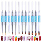 Dual-ended Painting Brush Liner Nail Extension Maker Alloy Handle Nail Art Tool